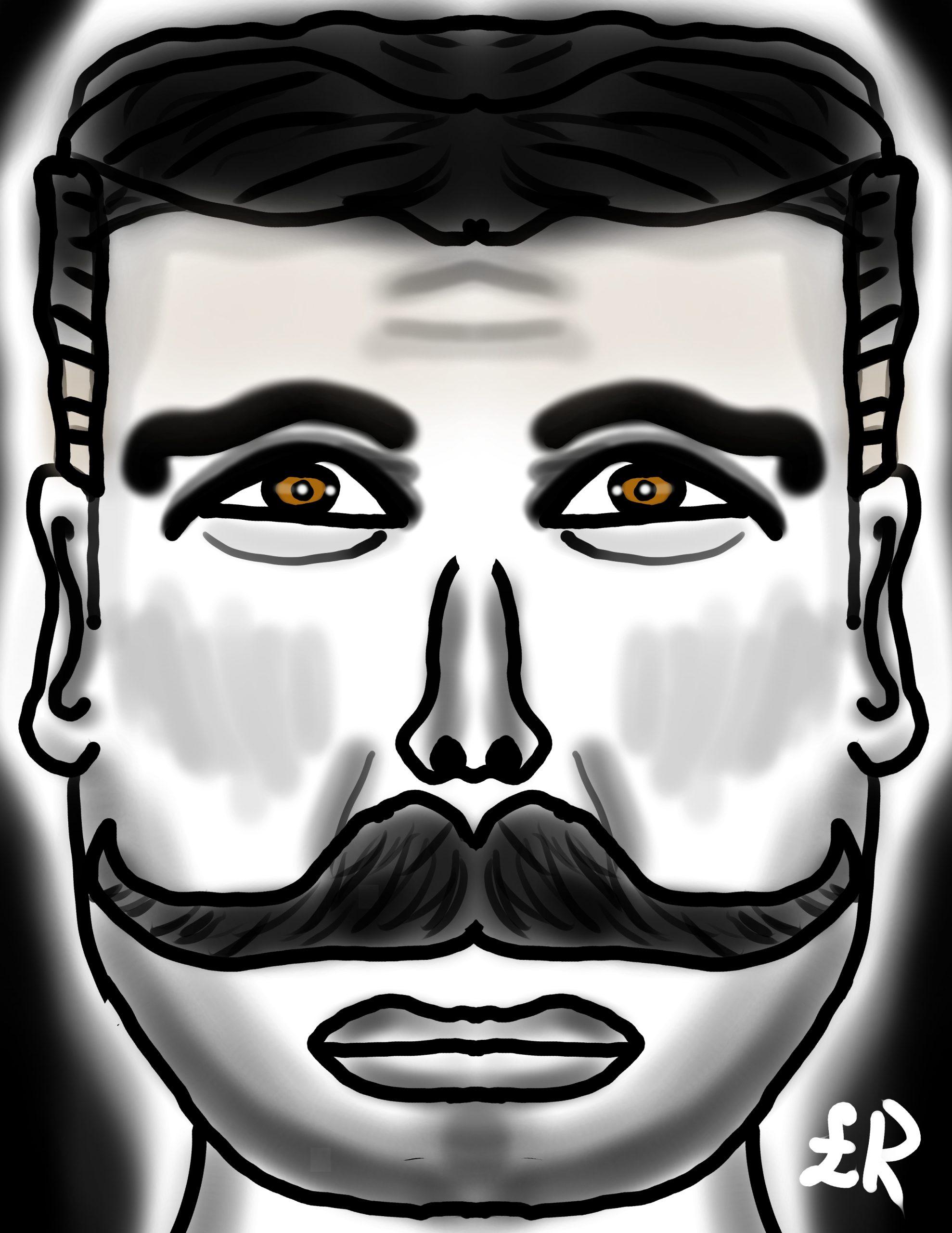 Men mustache